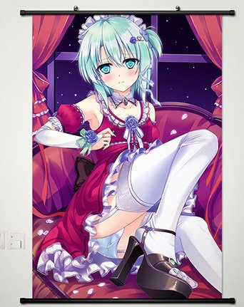 Wall Scroll Poster Fabric Painting For Anime Sword Art Onlin