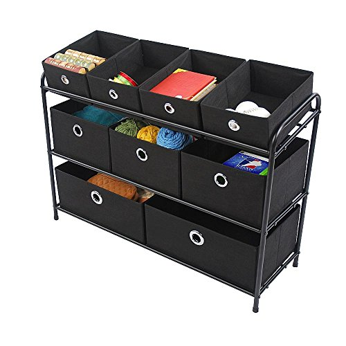 Essential Home Multi Bin Storage Organizer - Black by Essential Home