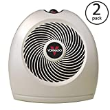 Vornado VH2 1500 Watt Compact Whole Room Vortex Electric Portable Space Heater (2 Pack)