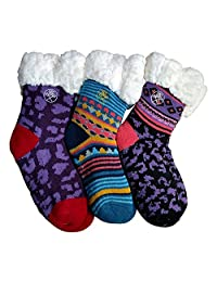 Frozen Folk Kids Fleece-Lined Cozy Sherpa Fluffy Cloud Socks, Warm