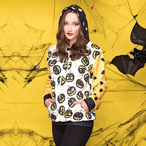 YANG-YI Hot, Women Halloween Pumpkins 5D Printing Hoodie Sweatshirt Pullover Top by YANG-YI (Image #1)