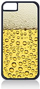 Beer Cup Up-Close- Case for the Apple Iphone 6 Only-Hard Black Plastic Outer Shell