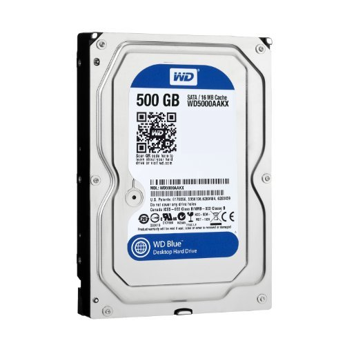 WD Blue 500GB Desktop Hard Disk Drive - 7200 RPM SATA 6 Gb/s 16MB Cache 3.5 Inch - WD5000AAKX by Western Digital