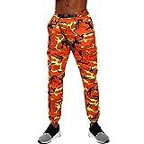 PASATO Clearace Sale! Men Camouflage Pocket Overalls Casual Pocket Sport Work Sashes Trouser Pants(Orange, M)