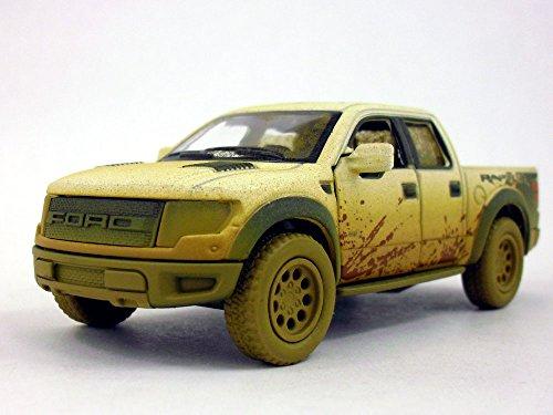 (Ford F-150 SVT Raptor 1/46 Scale Diecast Metal Model - WHITE/MUDDY)