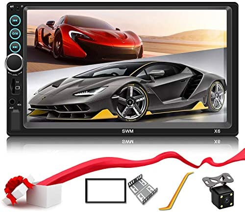 Double Din Car Stereo Upgrade 7 inch Touch Screen Car Radio MP5 4 3 Player FM Radio Video Audio Compatible with Bluetooth Support Rear-View Camera Mirror Link Android iPhone