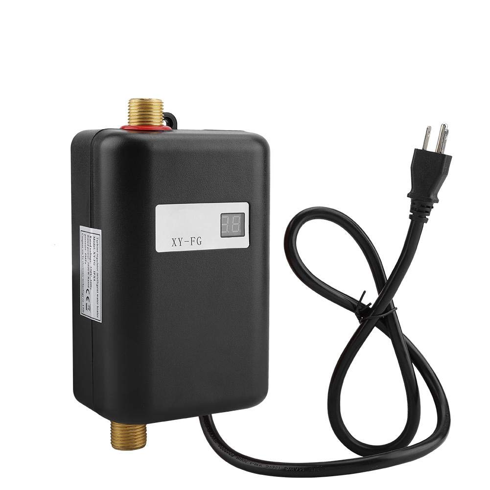 Tankless Water Heater,Electric Water Heater,110V Mini Tankless Instant Hot Water System for Bathroom Kitchen (Black) by DDZ (Image #2)