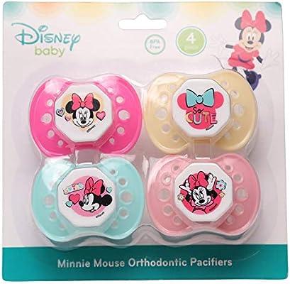 Amazon.com: Disney Minnie Mouse - Juego de 4 chupetes: Baby