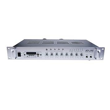 Cablematic - Amplificador de Sonido Professional 100 W 110 V 5 Zonas con FM MP3 AUX Mic Rack: Amazon.es: Electrónica