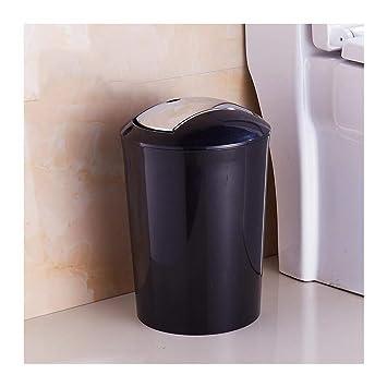 Amazon.com: MEI Trash Can 10L Round Plastic Shake lid Trash ...
