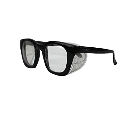 Retro Style Safety Glasses with Side Shield (w/o Pouch, Clear Lens ...