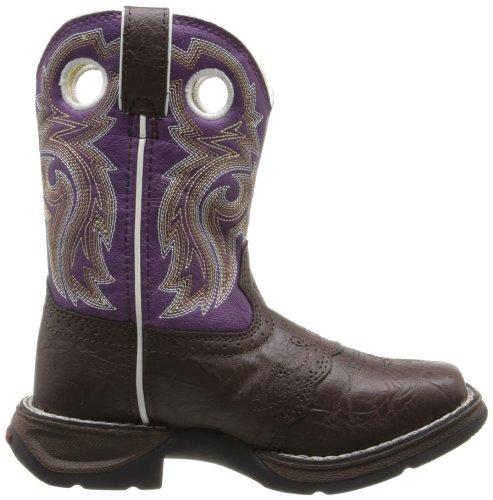 Durango Kids BT286 Lil' 8 Inch Saddle,Dark Brown/Purple,11M Little Kid by Durango (Image #6)