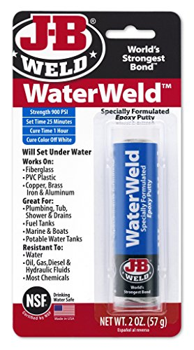 Repair Spa - J-B Weld 8277 WaterWeld Epoxy Putty Stick - 2 oz.