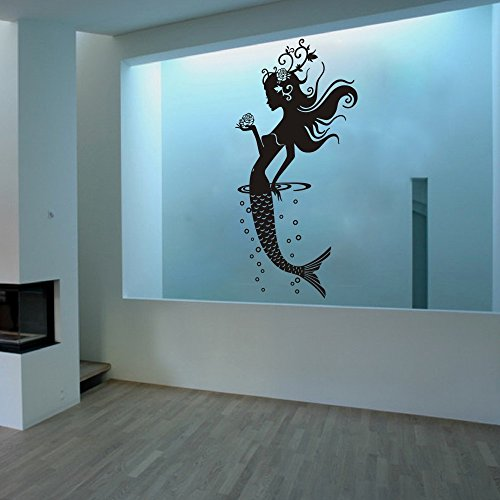 Amazon Mermaid Bathroom Wall Decal Sticker Beautiful Lady Vinyl Decor Home Decoration Art LargeWhite Kitchen
