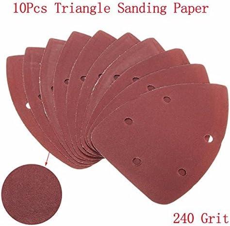 CynKen - Hojas de lija triangulares (20 unidades, 140 x 100 mm, grano 240, lijadora): Amazon.com.mx: Herramientas y Mejoras del Hogar