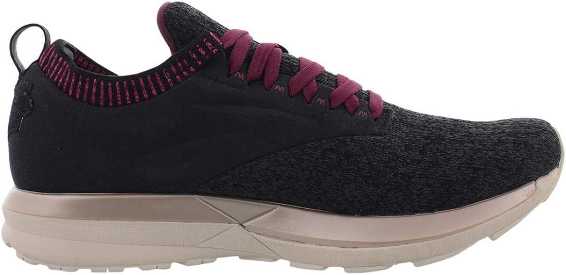Brooks Womens Ricochet Black//Grey//Pink 8 B US