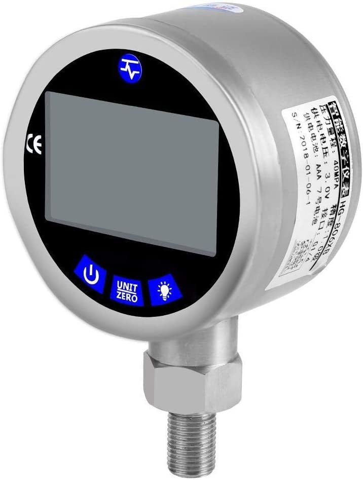 400 Bares 0-40Mpa Entrada Hidr/áulica Man/ómetro Digital 4 Conector Base 10000PSI con G1