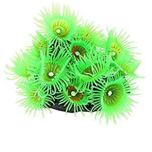 eDealMax acuario de silicona Artificial submarino Coral Sea Anemone decoración Verde 74