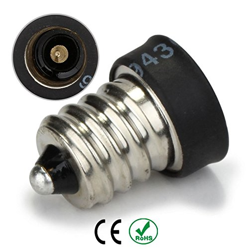 E12 to E11 Candelabra E12 Socket to Mini Candelabra E11