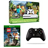 Xbox One S 500GB Console - Minecraft Bundle, LEGO Jurassic Park, and Extra Controller