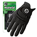 New FootJoy WeatherSof Mens Black Golf Glove - Worn of Left Hand (Large)