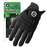 New FootJoy WeatherSof Mens Black Golf Glove - Worn of Left Hand