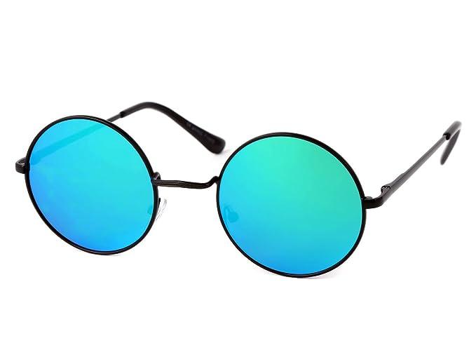 159c17553c35 Alsino Sonnenbrille Rundbrille Nickelbrille Flexbügel Rund Hippie-Brille  70er Jahre Retro Brille