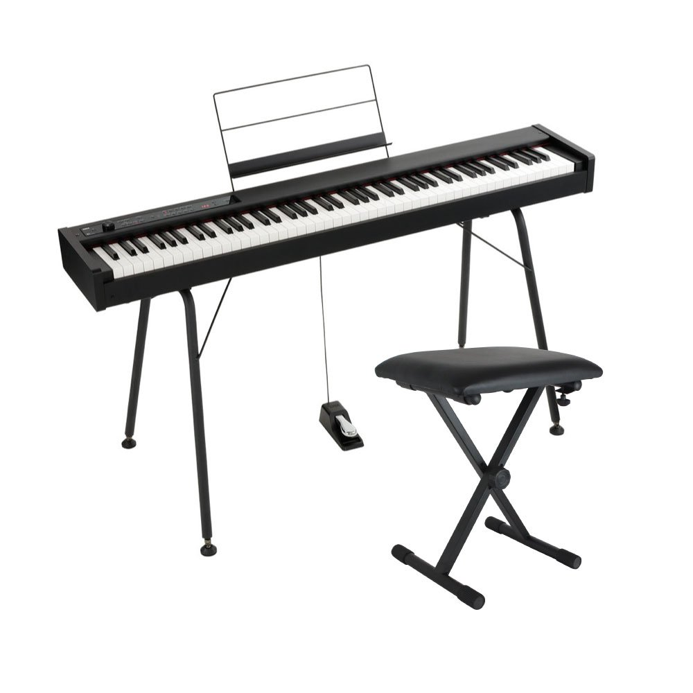 KORG D1 DIGITAL PIANO 電子ピアノ 純正スタンド&X型キーボードベンチ付きセット   B07F8M37LM