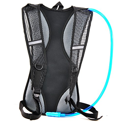 Hydration Pack With 2L Backpack BPA Free Water Bladder, Fits Men, Women, Youth and Kids, Used For Hiking, Running, Cycling, and Skiing Five Colors