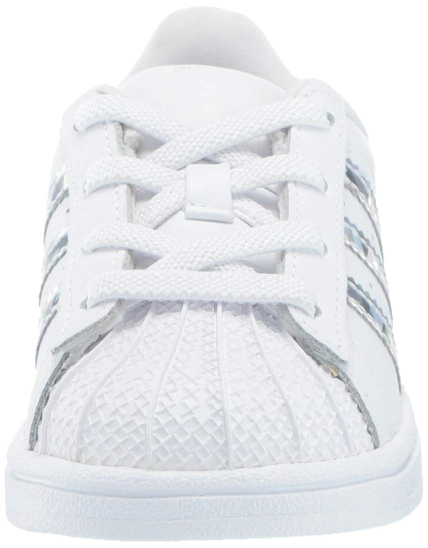 adidas Originals Unisex Superstar Running Shoe, White/White/White, 1 M US Little Kid by adidas Originals (Image #4)