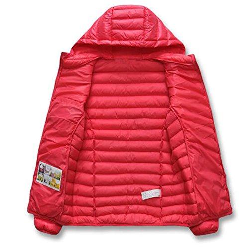 NiSeng Abrigo de invierno Con Capucha Cazadoras Cortas Ligero Chaqueta Manga larga Abrigo Acolchado para Mujer Hombre Pink Mujeres