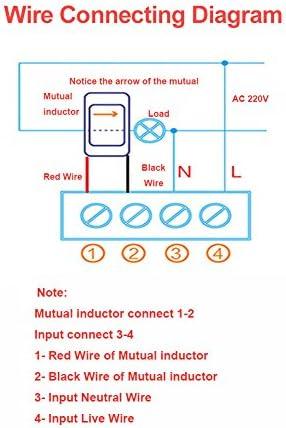 0,01~99999KWH LCD Voltage Meter 6 in 1 110-250V 100A Pannello di controllo alimentazione con induttore mutuo Energia 5 cifre