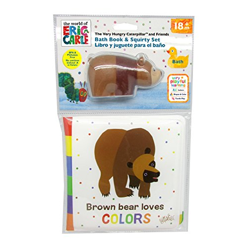 Kids Preferred The World of Eric Carle, The Very Hungry Caterpillar & Friends Brown Bear Bath Book & Squirty by Kids Preferred