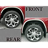GC28110 QAA FITS Highlander 2008-2013 Toyota 1 Pc: Stainless Steel Fuel//Gas Door Cover Accent Trim, 4-Door, SUV