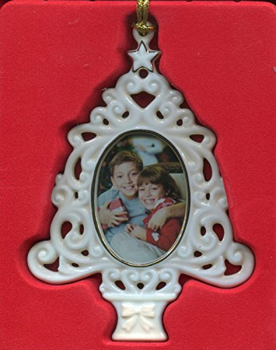 Lenox Porcelain Photo Frame Ornament, Openwork Christmas (Openwork Christmas Ornament)