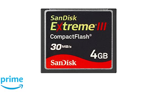 Sandisk Extreme® III CompactFlash® 4GB Memoria Flash ...