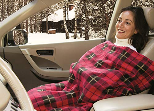 Car Cozy 2 - 12-Volt Heated Travel Blanket (Red Plaid d460c251c