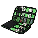 EasyHui Electronics Storage Case Bag Small Universal Travel Cables Organizer Bag Electronics Accessories Bag Purse for USB Phone Charger and Hard Disk