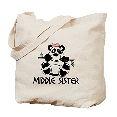 CafePress–Cute Panda medio hermana–Gamuza de bolsa de lona bolsa, bolsa de la compra