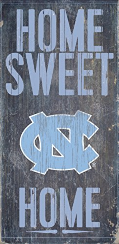 - North Carolina Tar Heels Wood Sign - Home Sweet Home 6''x12''