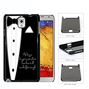 Fancy Black White Suit and Tie As Long As I've Got My Suit and Tie Justin Timberlake Song Lyrics Hard Plastic Snap On Cell Phone Case Samsung Galaxy Note 3 III N9000 N9002 N9005