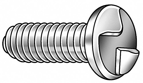 1/4-20 x 1'' Round Head One-Way Tamper Resistant Screw, 25 pk.
