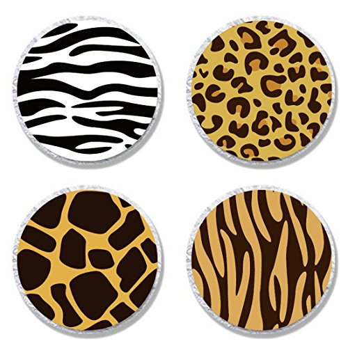 MAGJUCHE Zoo Animal Print Candy Stickers, Wild Animal Print Party Sticker Labels for Favors, Decorations, Fit Hershey's Kisses, 304 Count ()