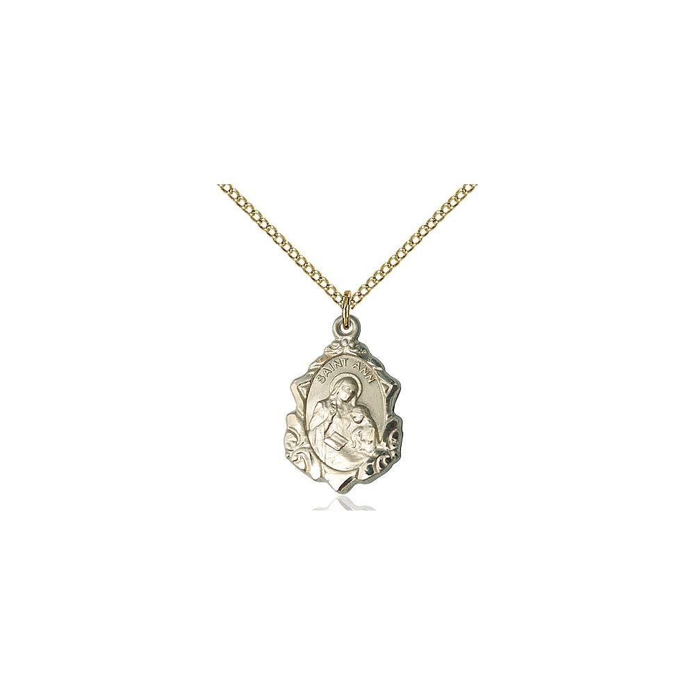 DiamondJewelryNY 14kt Gold Filled St Ann Pendant