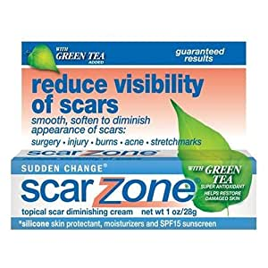 Sudden Change Scar Zone Topical Scar Diminishing Cream, with Green Tea Added, 1 oz (28 g) (Pack of 2)