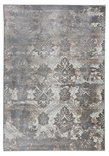 Antep Rugs Bosporus Collection Autumn Print Area Rug, 129″ L x 94″ W, Gray/Cream Review