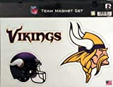 "NFL Vikings Minnesota Team Magnet Sheet, 9"" x 5"" x 0.2"", Team Logo"