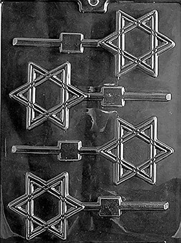 Star Of David Candy Mold (Hanukkah Star of David Jewish Star Lollipop Chocolate Mold SHIPS SAME DAY! m155)
