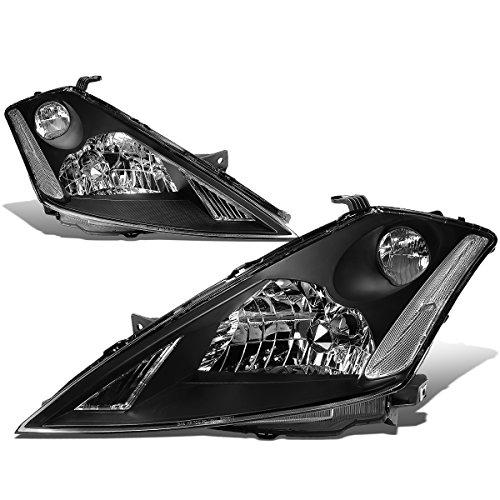 - For Nissan Murano Z50 1st Gen Pair of Black Housing Clear Corner Headlight Lamp