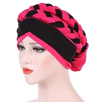 Amazon.com   Women s Braid Turban Headwear For Cancer Stretch Long ... eca5bd281a9